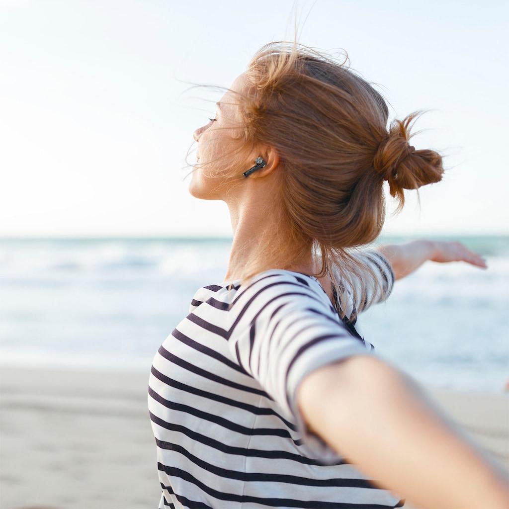 4smarts Bluetooth-Kopfhörer »TWS Pebble«, Bluetooth, integrierte Steuerung für Anrufe und Musik