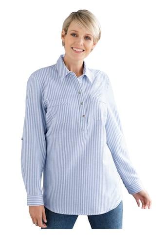 Classic Basics Flanell - Bluse im Streifen - Dessin kaufen