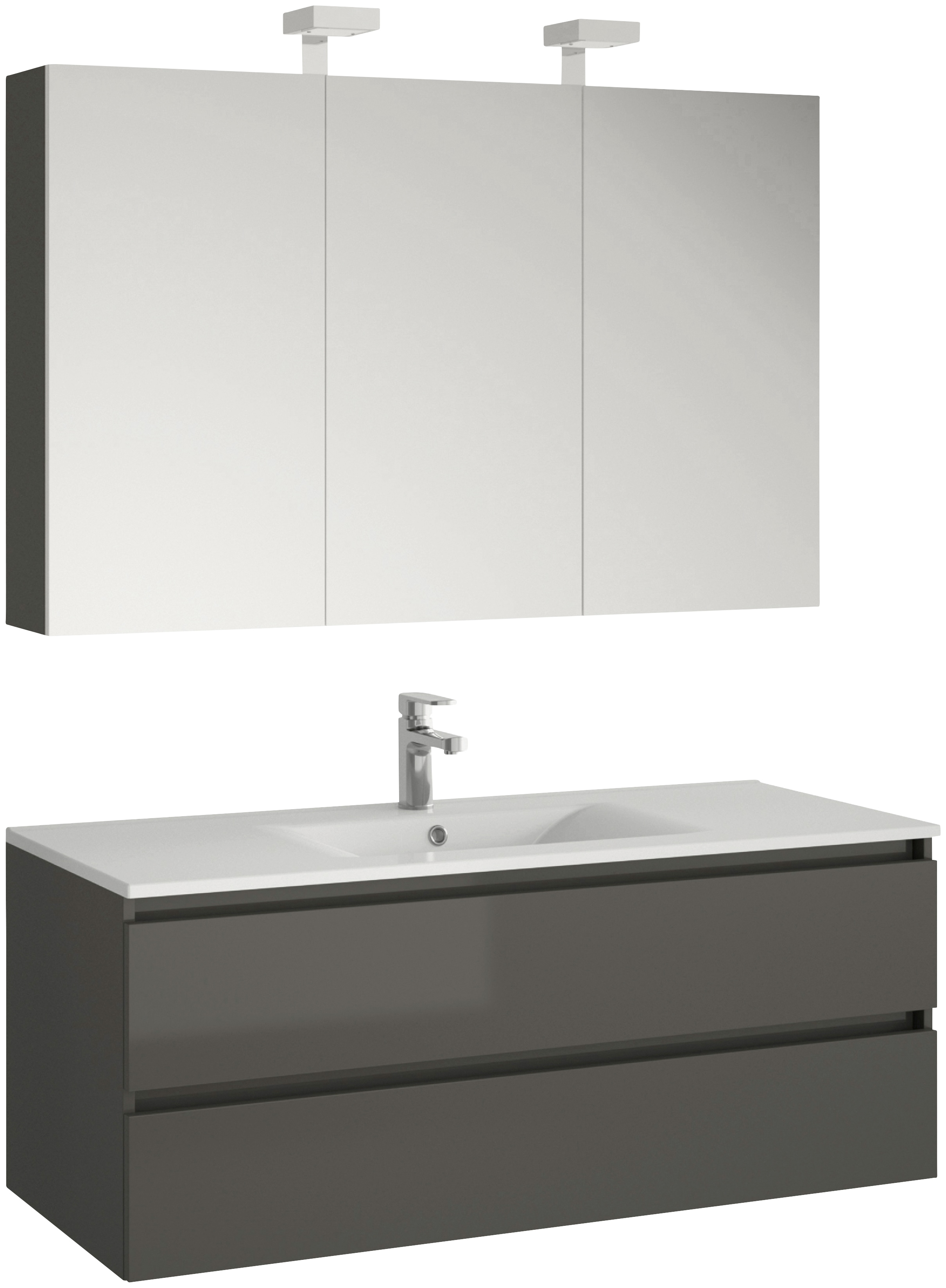 ALLIBERT Badmöbel-Set Alma Breite 120 cm (3-tlg)
