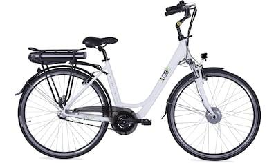 LLobe E - Bike »Metropolitan JOY weiß 10 Ah«, 3 Gang Nabenschaltung, Frontmotor 250 W kaufen