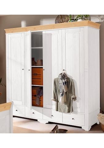 Home affaire Kleiderschrank »Lotta«, wahlweise in 4-, oder 5-geteilt, in 2 Farben kaufen