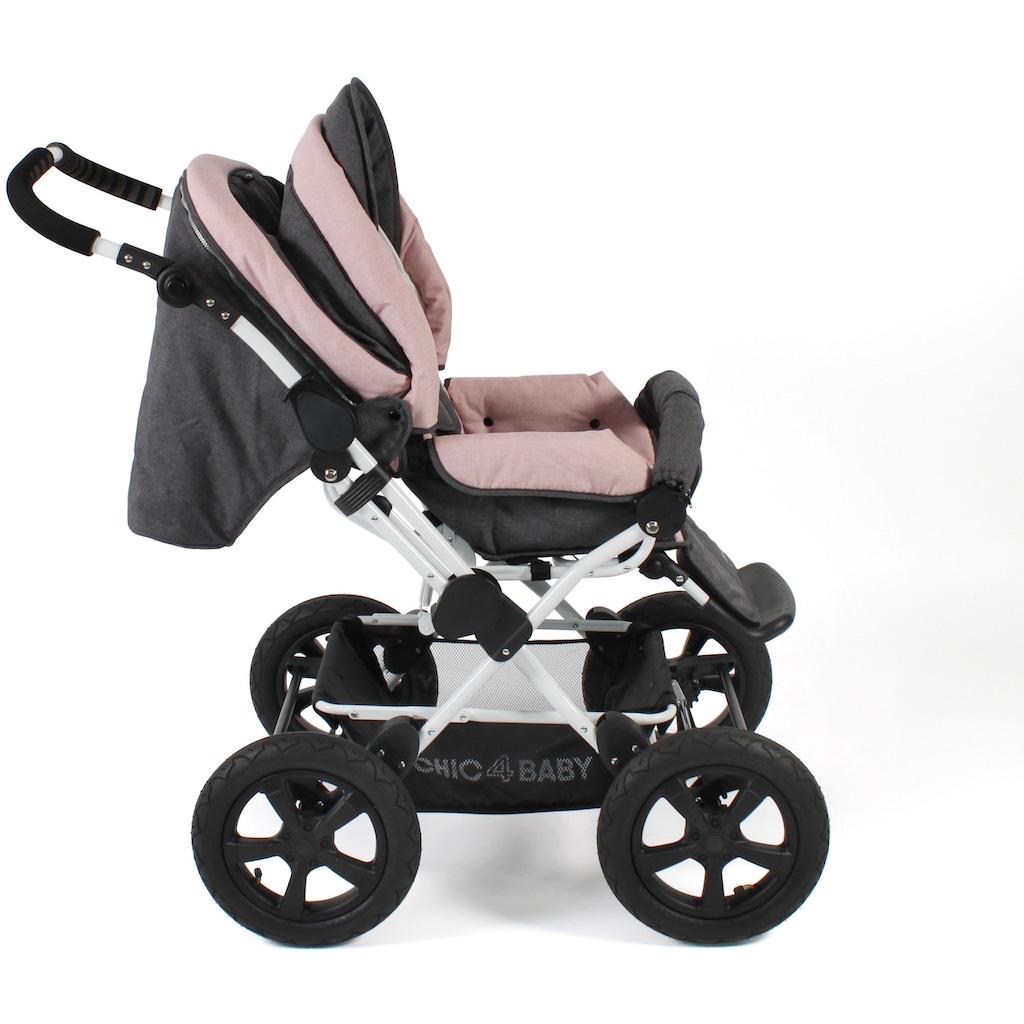 CHIC4BABY Kombi-Kinderwagen »Viva, Melange Rosa«, 15 kg, ; Kinderwagen