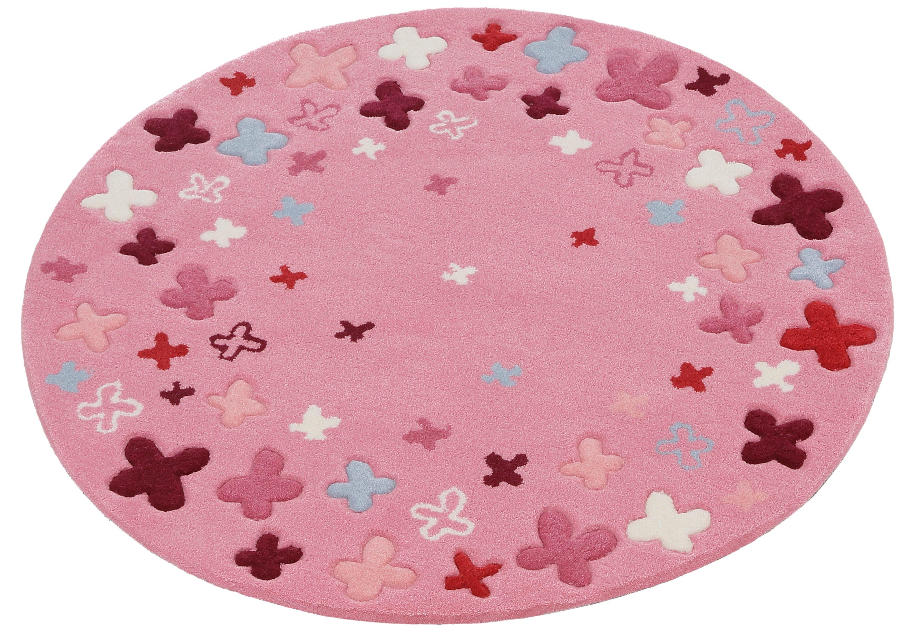 Kinderteppich Bloom Field Esprit rund Höhe 10 mm handgetuftet