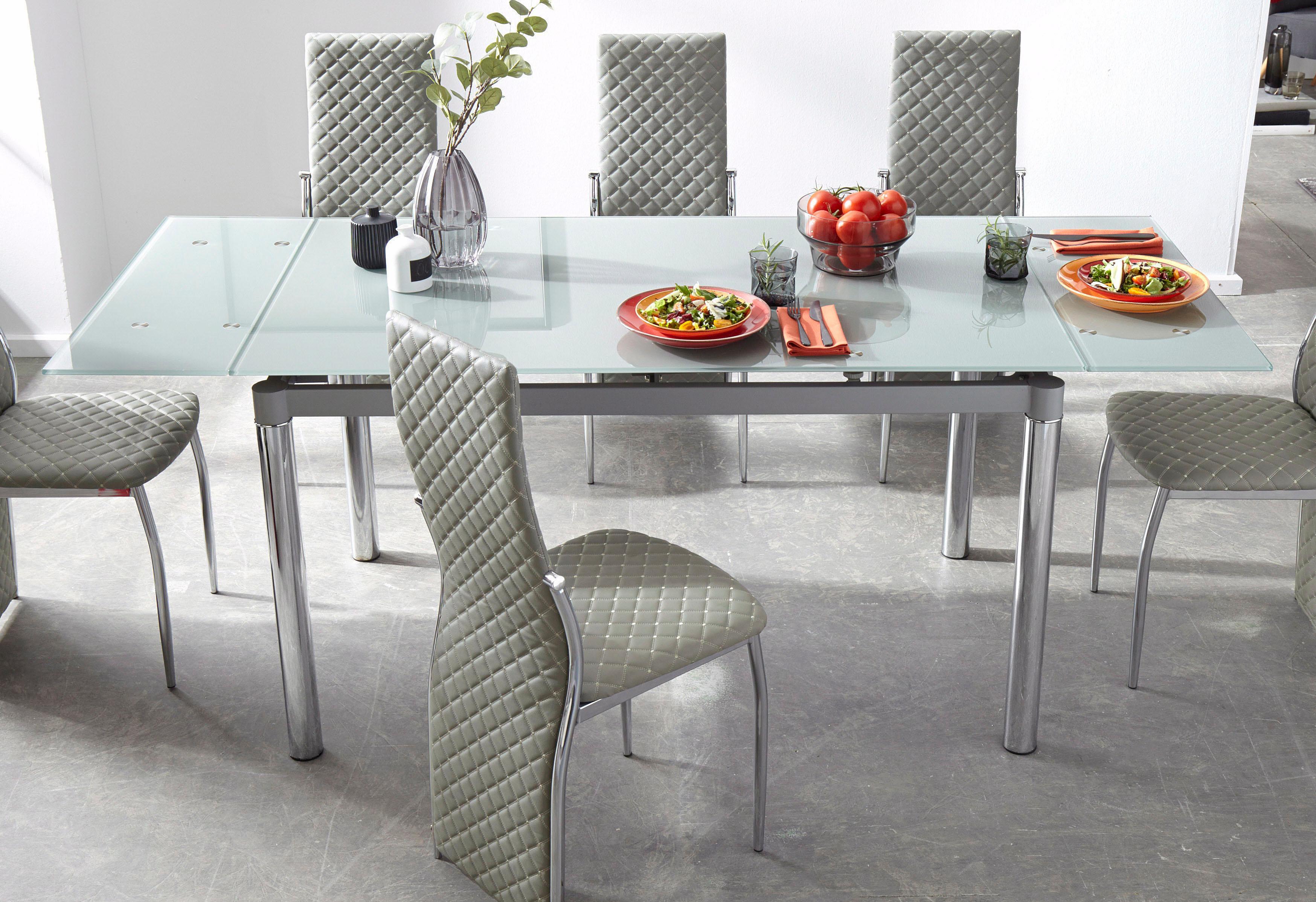 my home Esstisch grau Ausziehbare Esstische Tische