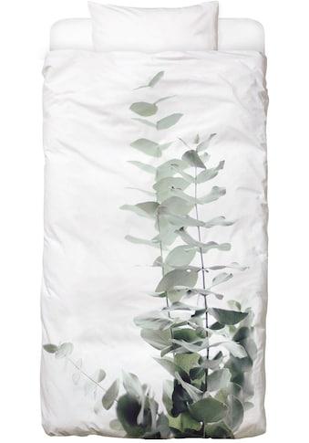 Juniqe Bettwäsche »Eucalyptus White 2«, In vielen weiteren Designs erhältlich kaufen