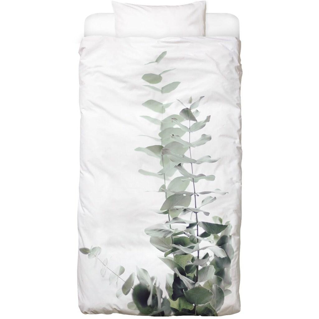 Juniqe Bettwäsche »Eucalyptus White 2«, In vielen weiteren Designs erhältlich