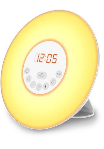 B.K.Licht LED Nachttischlampe, LED-Board, Warmweiß, LED Lichtwecker Wake up Light Radiowecker Sonnenaufgangfunktion Kinderwecker kaufen