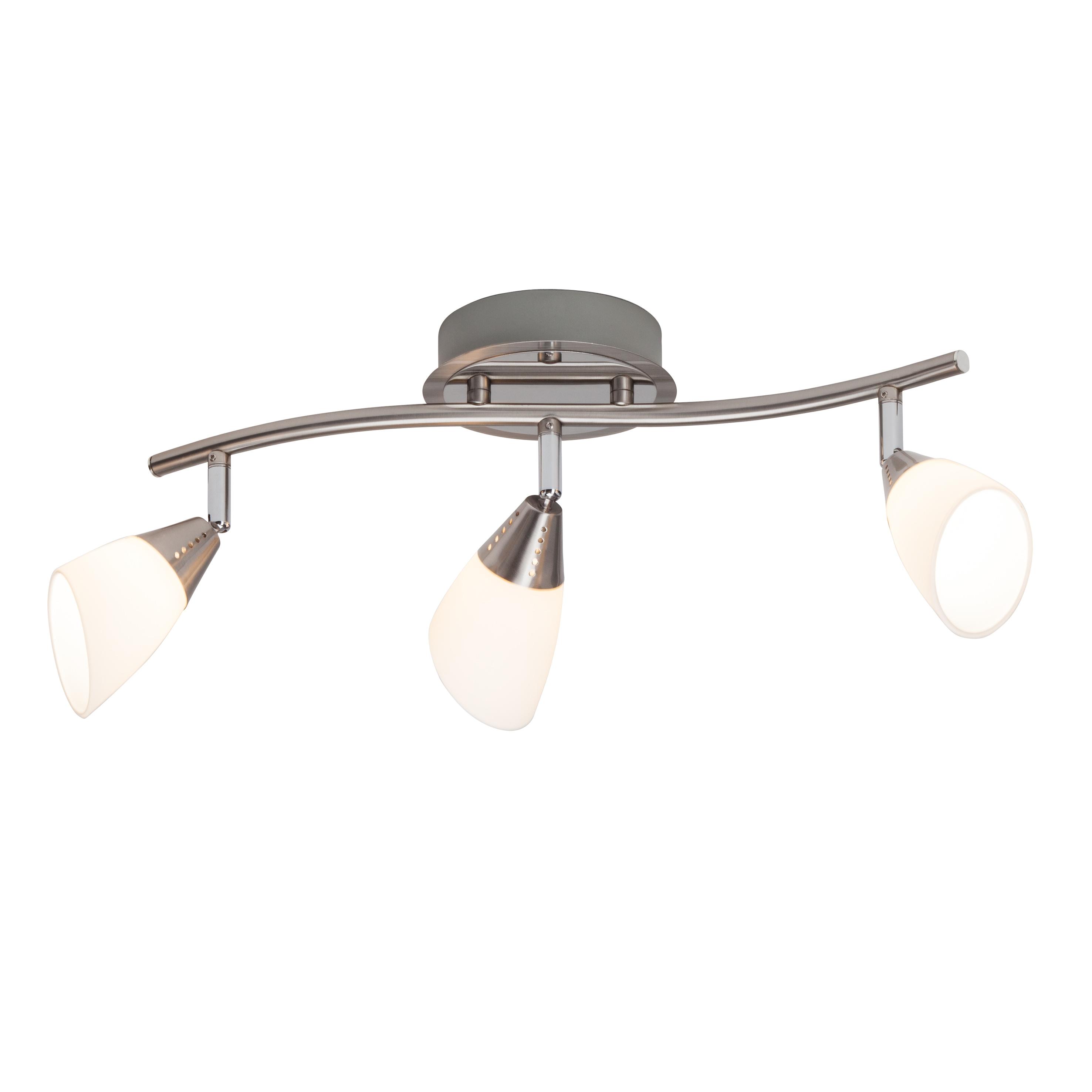 Brilliant Leuchten Opalina LED Spotrohr 3flg eisen chrom/weiß