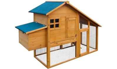 DOBAR Hühnerstall , BxTxH: 173x66x120 cm, mit Freilaufgehege kaufen
