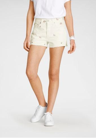 Levi's® Shorts »501 Original Short«, mit floraler Stickerei und offenem Saum kaufen