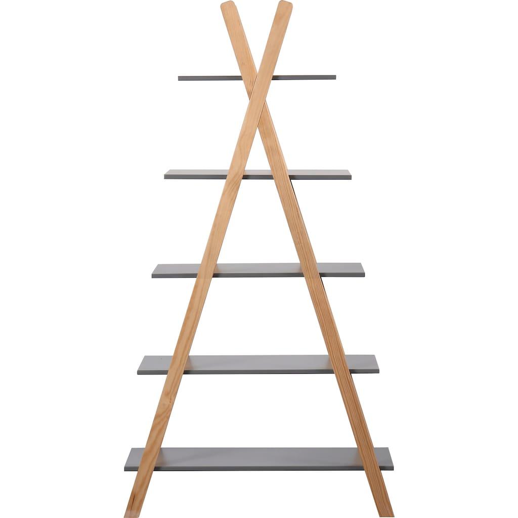 Lüttenhütt Regal »Dolidoo«, in skandinavischem Look, Leiterregal für Kinder- oder Jugendzimmer