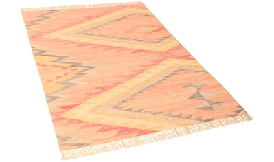 TOM TAILOR Teppich »Vintage ZigZag«, rechteckig, 5 mm Höhe, Boho-Style, handgewebt,... kaufen