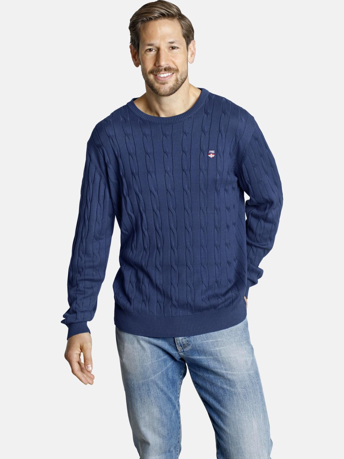 Jan Vanderstorm Rundhalspullover SONNHARD | Bekleidung > Pullover > Rundhalspullover | Blau | Jan Vanderstorm