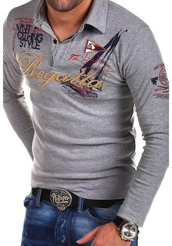 behype Poloshirt »REGATTA«, mit langen Ärmeln kaufen