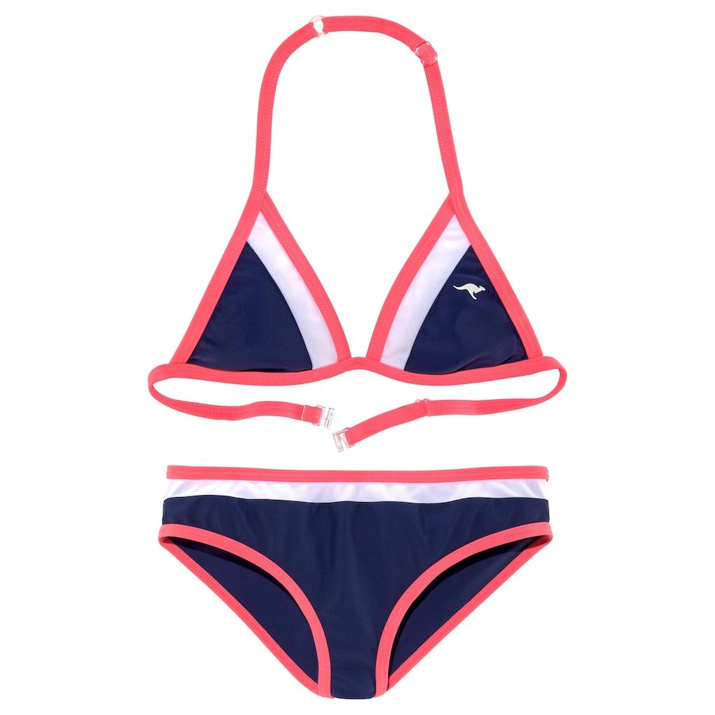 KangaROOS Triangel-Bikini, im coolen Colorblocking-Design