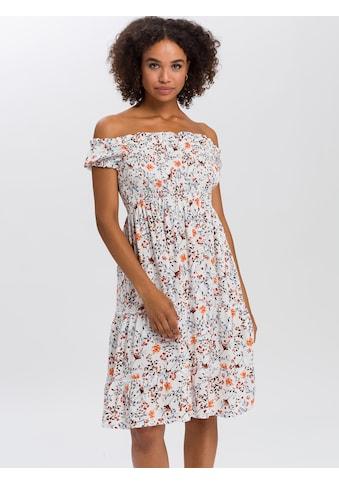 Cross Jeans® Sommerkleid »92151«, Off-Shoulder-Kleid mit gesmokten Partien kaufen