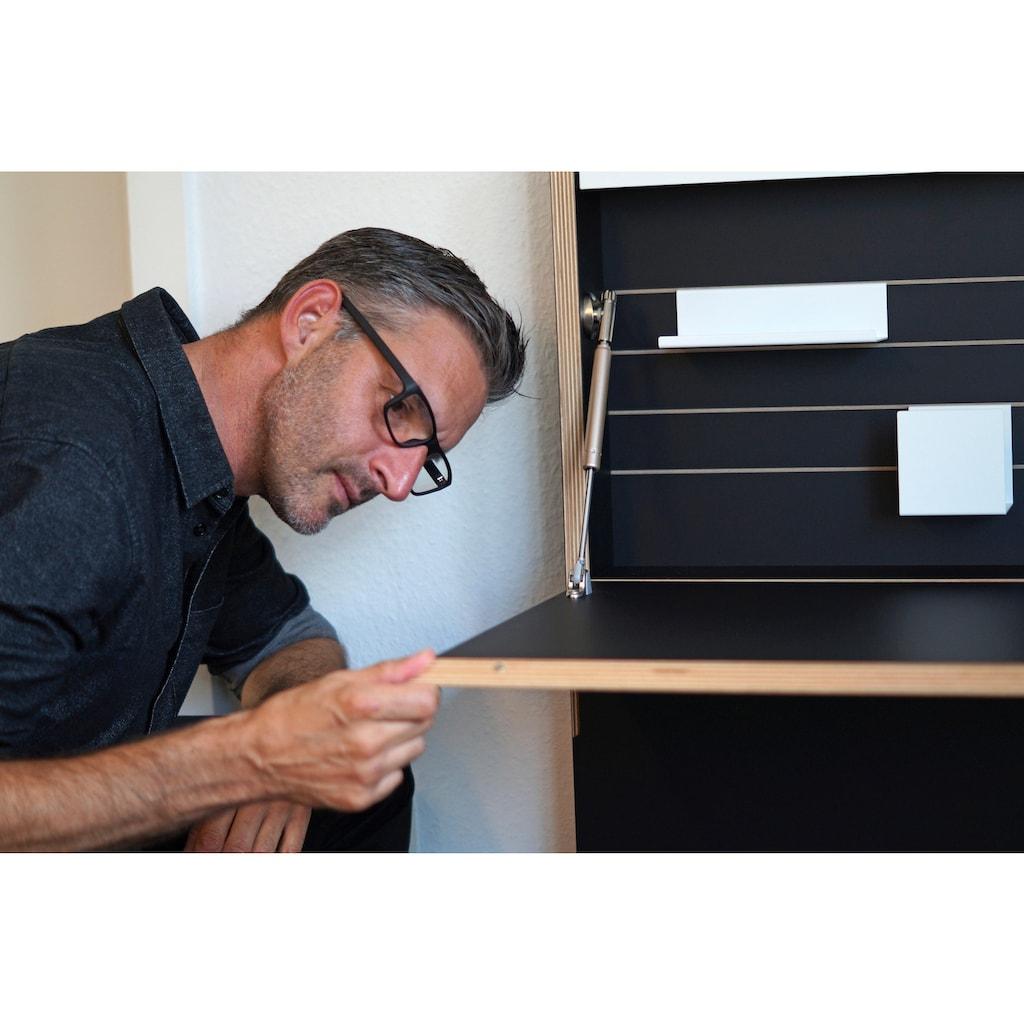 Müller SMALL LIVING Sekretär »FLATMATE«, LED Leuchte und 2 USB-Dosen, ausgezeichnet mit dem German Design Award 2013