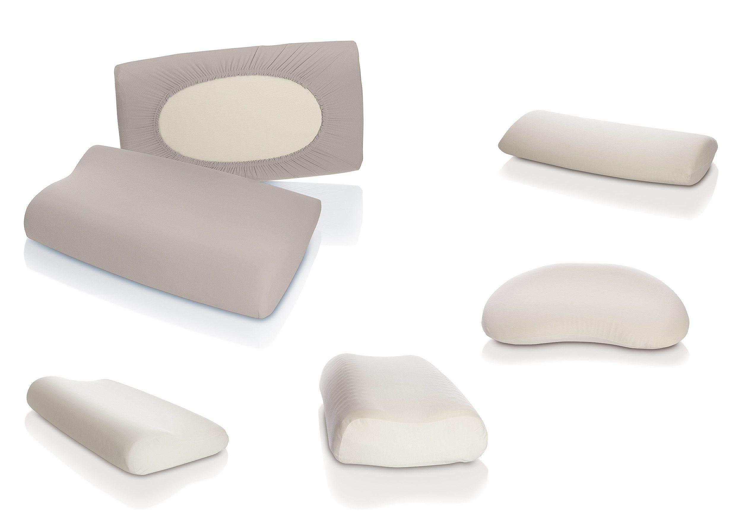 Kissenbezug Schlafgut Nackenstützkissen Schlafgut | Schlafzimmer > Kopfkissen > Nackenstützkissen & Nackenrollen | Grau | Baumwolle | Schlafgut