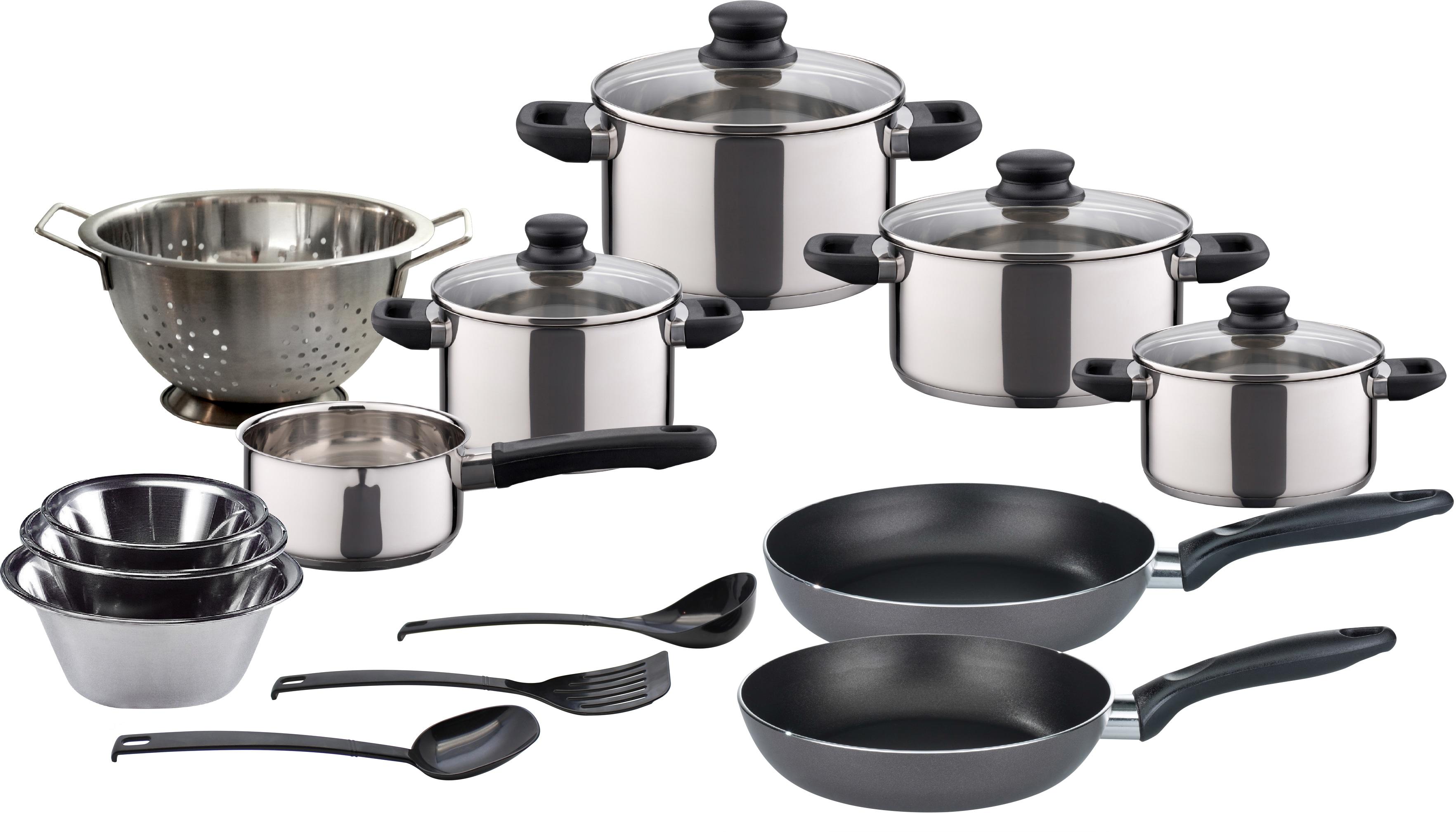Elo - Meine Küche Topf-Set, Edelstahl, (Set, 18 tlg.) silberfarben Topf-Set Topfsets Töpfe Haushaltswaren