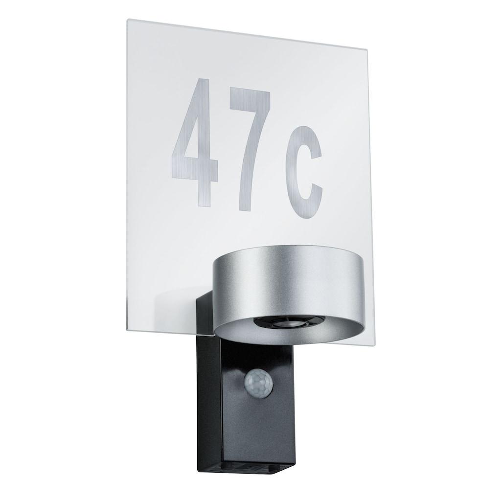 Paulmann LED Außen-Wandleuchte »Cone Silber/Anthrazit mit Bewegungsmelder 2x6W«, 1 St., Warmweiß