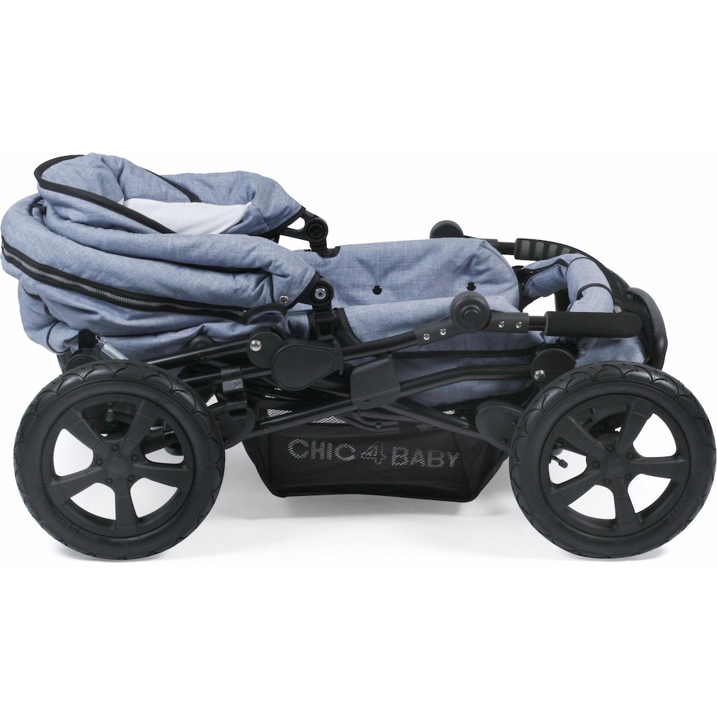 CHIC4BABY Kombi-Kinderwagen »Viva, hellblau«, 15 kg, mit Lufträdern; Kinderwagen