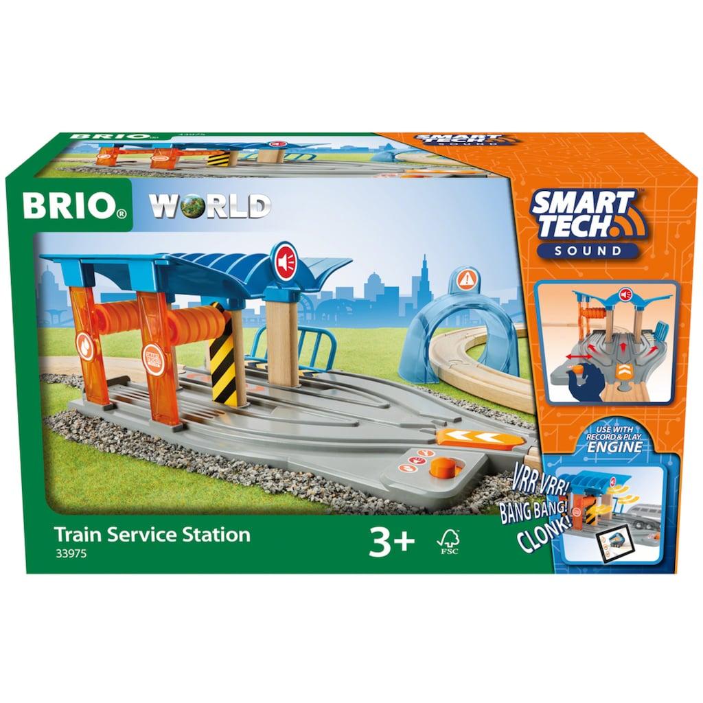 BRIO® Spiel-Gebäude »Smart Tech Sound Waschstraße mit Werkstatt«, für die Brio Eisenbahn