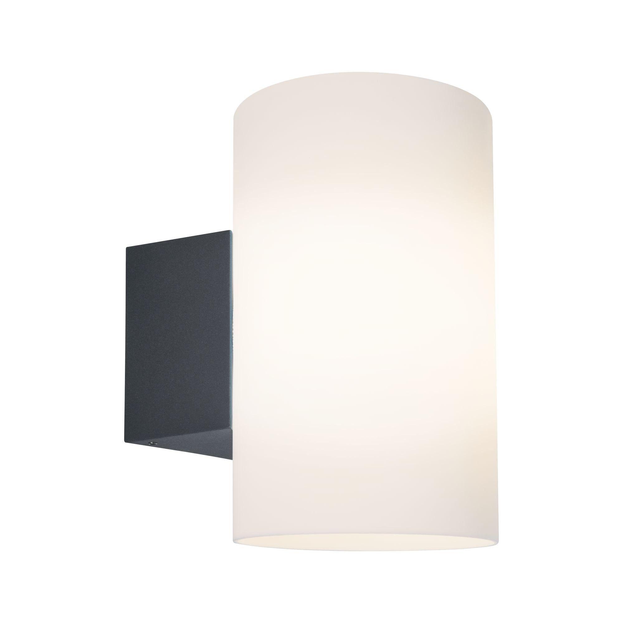 Paulmann LED Außen-Wandleuchte Tube Anthrazit max. 15W E27, E27, 1 St.