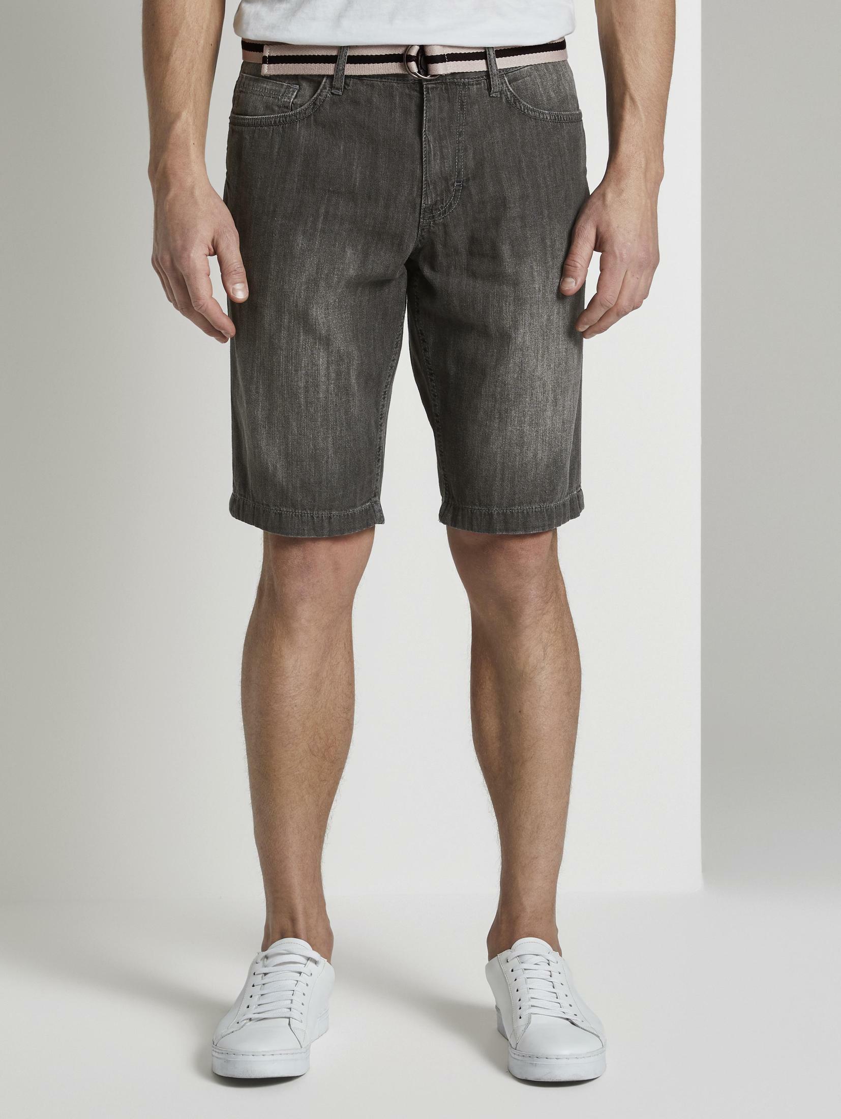 TOM TAILOR Loose-fit-Jeans Josh Regular Slim Jeans-Shorts mit Gürtel | Bekleidung > Jeans > Loose Fit Jeans | Tom Tailor