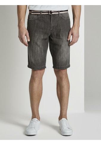 TOM TAILOR Loose-fit-Jeans »Josh Regular Slim Jeans-Shorts mit Gürtel« kaufen