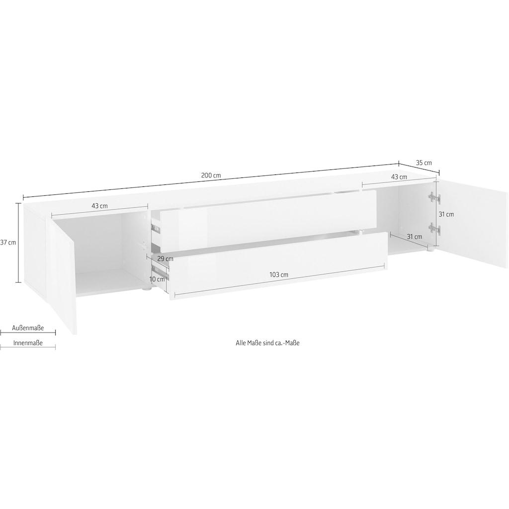 borchardt Möbel Lowboard »TOLEDO«, Breite 200 cm