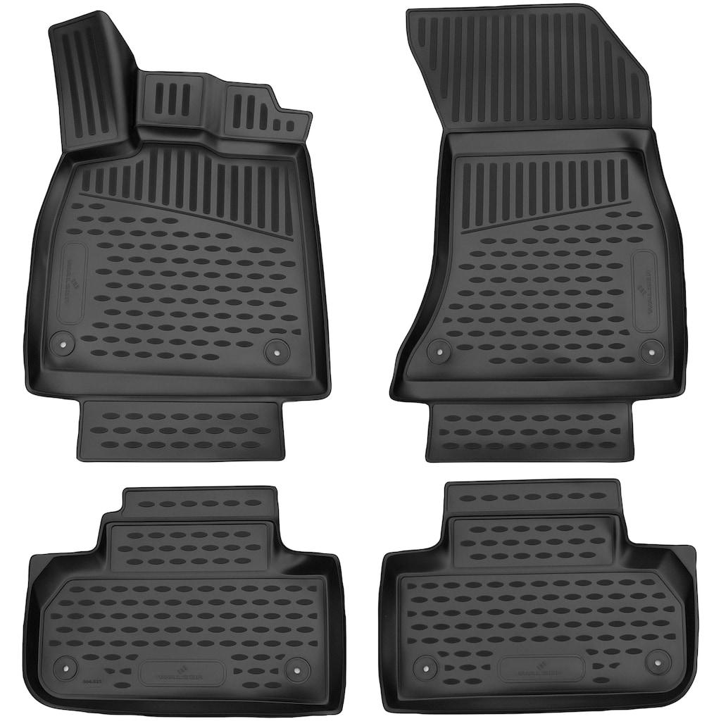 WALSER Passform-Fußmatten »XTR«, Audi, Q5, Geländewagen, (4 St., 2 Vordermatten, 2 Rückmatten), für Audi Q5 BJ 05/2016 - heute