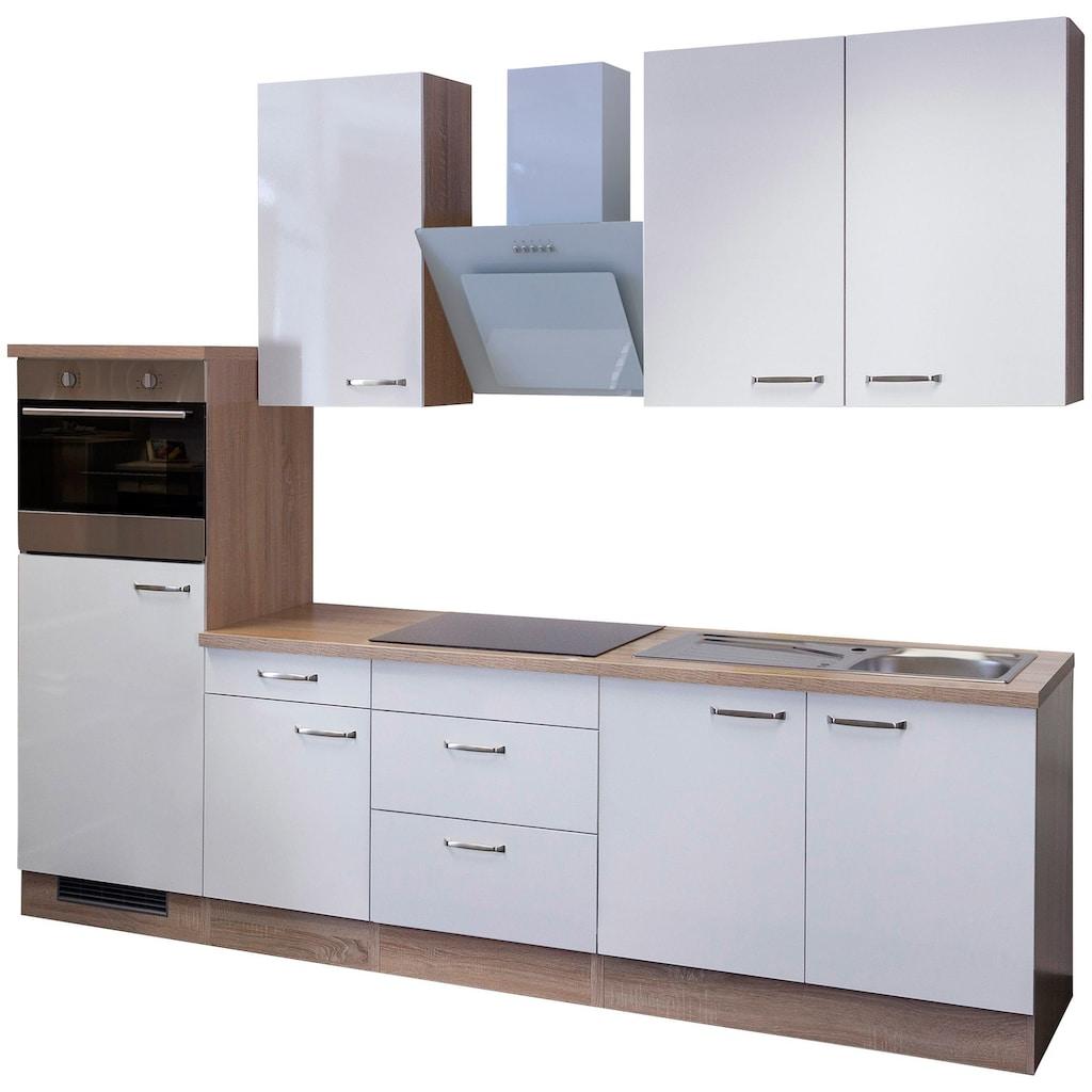 Flex-Well Küchenzeile »Valero«, mit E-Geräten, Gesamtbreite 270 cm