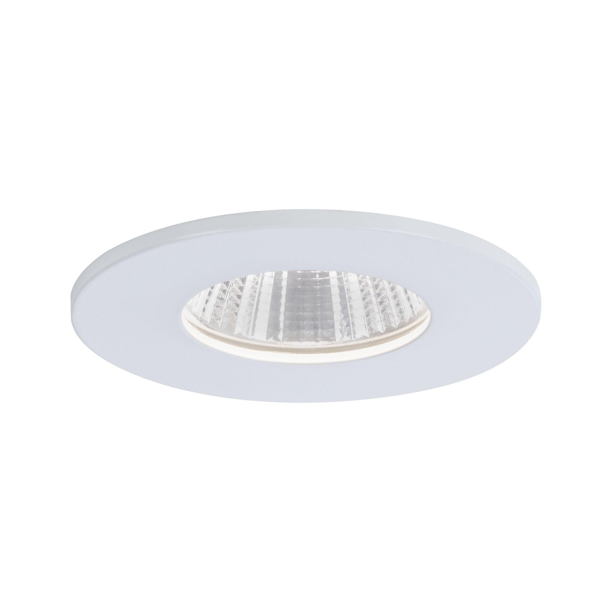 Paulmann LED Einbaustrahler Weiß matt rund starr 1x7W Calla, 1 St., Neutralweiß