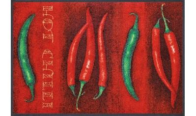wash+dry by Kleen-Tex Fußmatte »Hot Chili«, rechteckig, 7 mm Höhe, Schmutzfangmatte,... kaufen