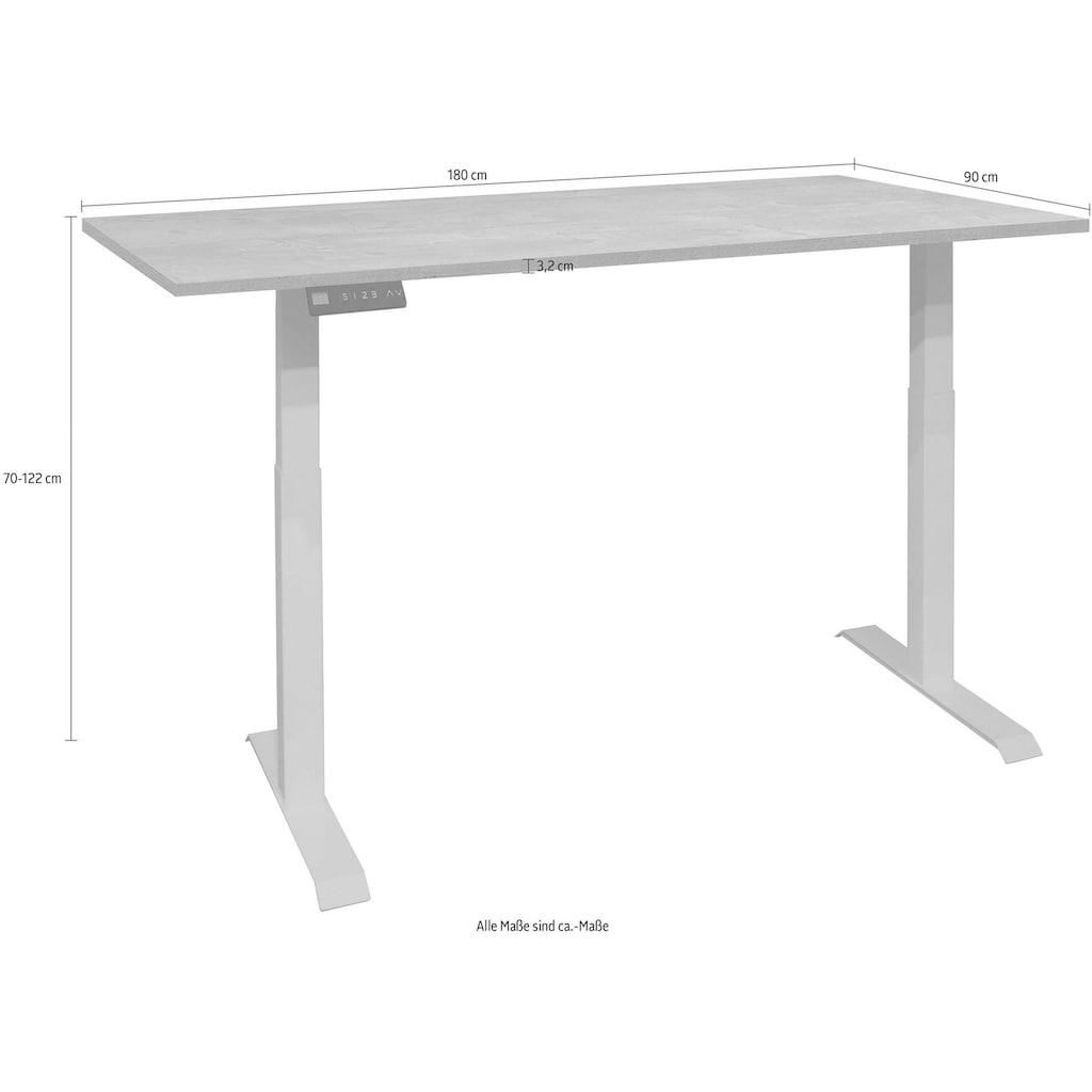 Schreibtisch »Big System Office«, Breite 180 cm, elektrisch höhenverstellbar