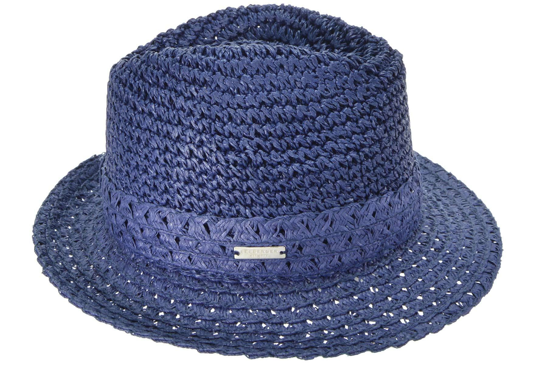 Seeberger Strohhut Fedora aus Papierstroh mit Garnitur 54183-0 | Accessoires > Hüte > Strohhüte | Seeberger