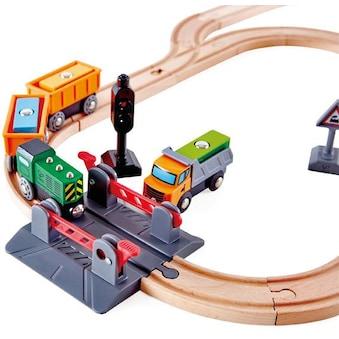 "Hape Gleise - Set ""Bahnübergang & Kran - Set"" kaufen"
