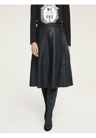 Lederrock in modischer Form kaufen