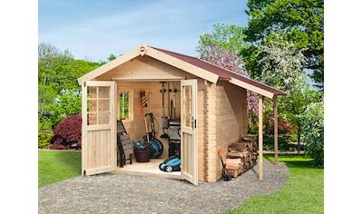 WEKA Set: Gartenhaus »Jens Gr.3«, BxT: 416x360 cm, inkl. Schleppdach, Fußboden und Fenster kaufen