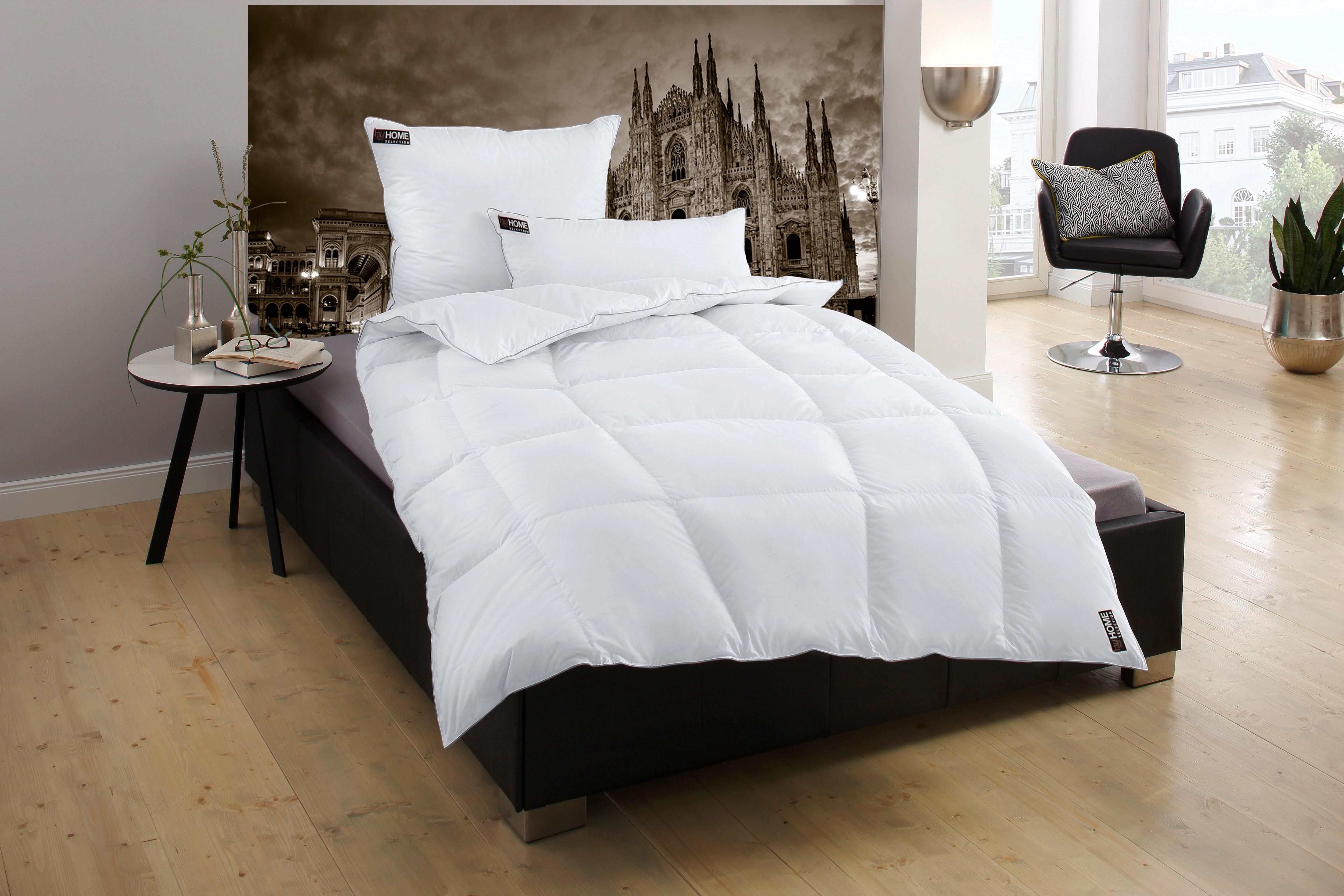 Daunenbettdecke Mailand my home Selection warm Füllung: 90% Daunen 10% Federn Bezug: 100% Baumwolle