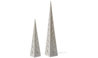 LED Dekoobjekt »Pyramiden«, 2 St., Warmweiß, per Motor drehbare LED-Beleuchtung kaufen