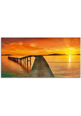 Artland Glasbild »Sonnenaufgang über dem Meer«, Gewässer, (1 St.) kaufen