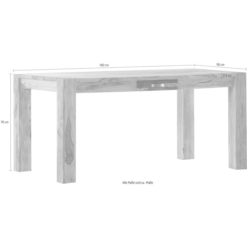 Gutmann Factory Esstisch »Patchwork«, aus massivem Sheesham Holz, Breite 160 cm
