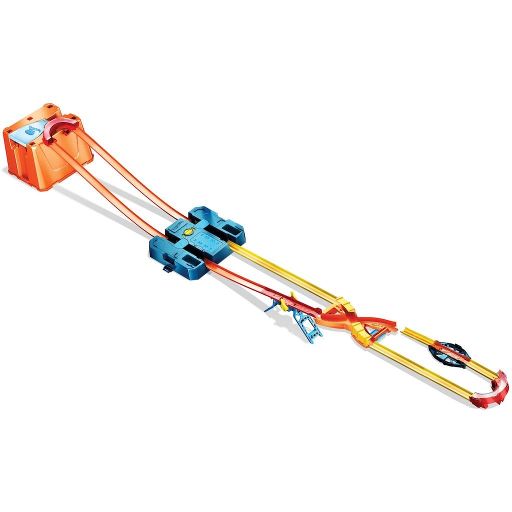 Hot Wheels Autorennbahn »Track Builder Unlimited Power Boost Box«, inkl. 2 Spielzeugautos