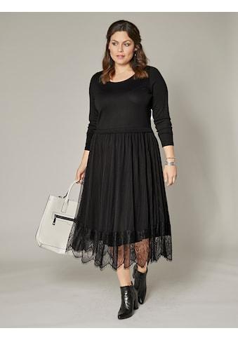 Sara Lindholm by Happy Size Jersey - Kleid mit Mesh und Spitze kaufen