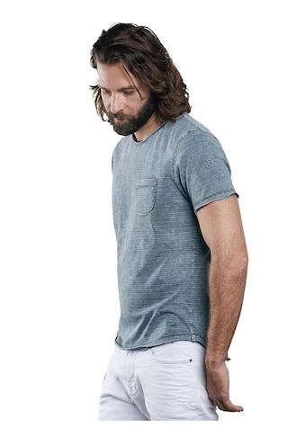 emilio adani Rundhals T - Shirt mit dezentem Streifenmuster kaufen