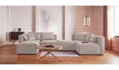 Guido Maria Kretschmer Home&Living Wohnlandschaft »Marble«, zusammengesetzt aus Modulen, in 3 Stoffen und vielen Farben kaufen