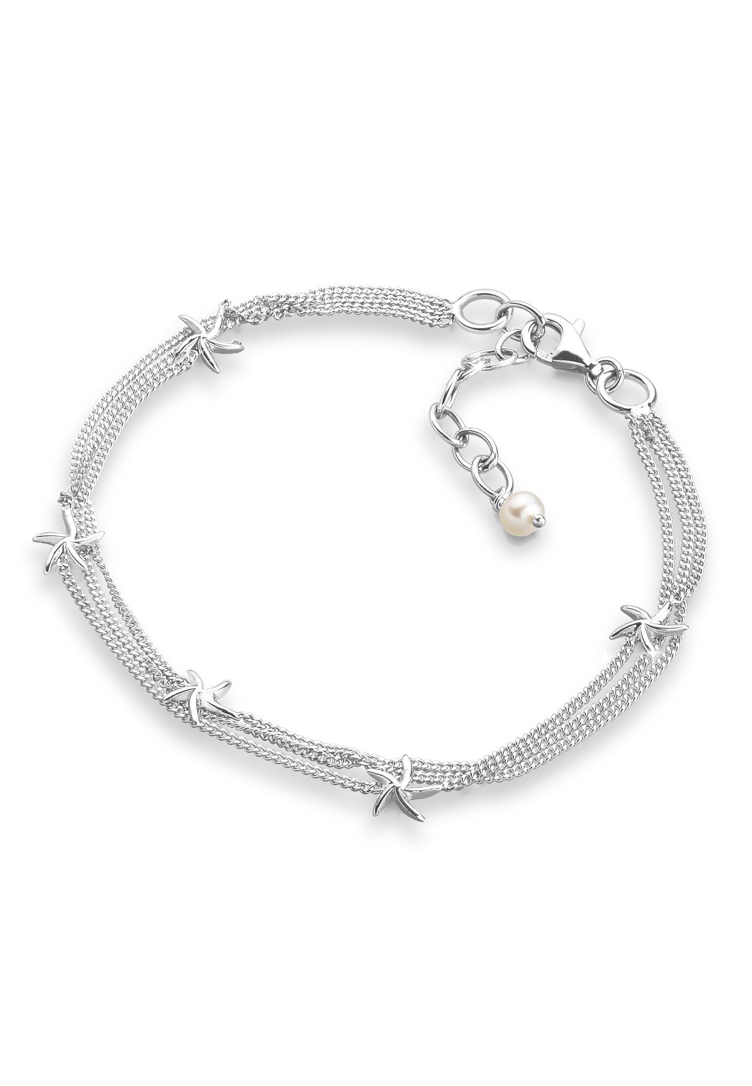 Elli Perlenarmband Seestern 925 Sterling Silber | Schmuck > Armbänder > Perlenarmbänder | Elli