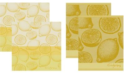 DDDDD Geschirrtuch »Citrus«, (Set, 4 tlg., Combi-Set: bestehend aus 2x Küchentuch + 2x... kaufen
