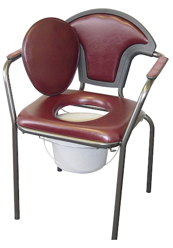 Toiletten-Stuhl mit angenehm weichem Schaumstoff gepolstert kaufen